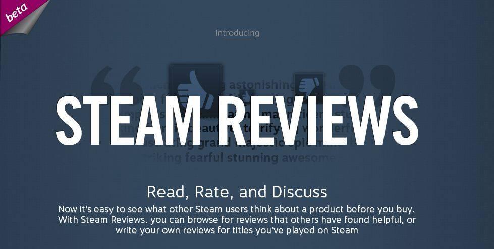 Valve kündigt Steam Reviews an, jeder kann ein Kritiker sein
