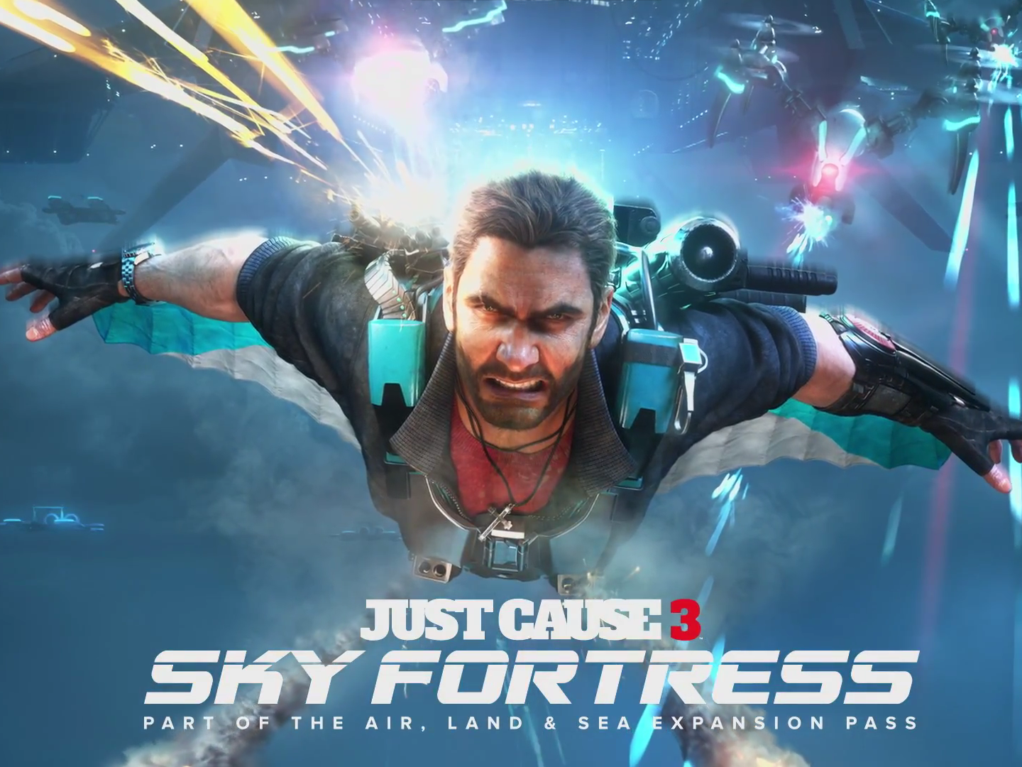 Tödlicher Wingsuit in Just Cause 3 DLC Sky Fortress