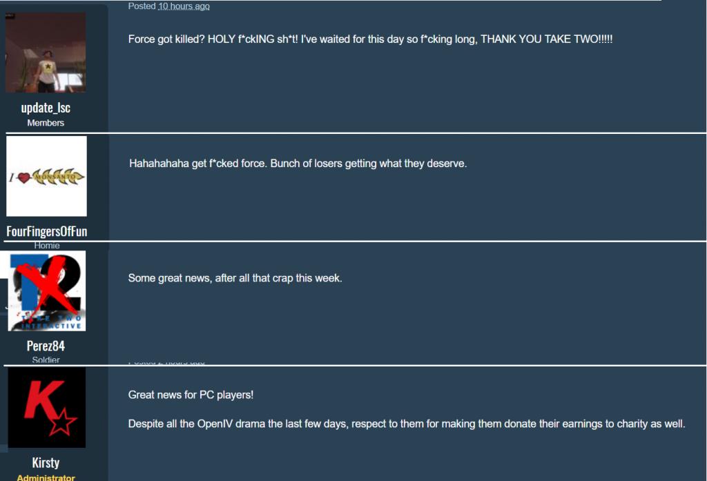 GTA Online Reaktionen auf Force Hax